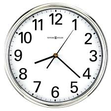wall clocks for office polished silver tone finished case round clock r35 clock