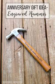 what a unique anniversary gift idea a wood handled end hammer perfect for a