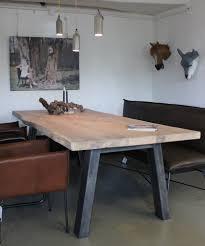 Tisch Leyton 50er Jahre Möbel Altholztische Baumkantentisch