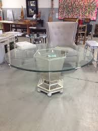 charming gray round modern glass mirrored dining room table varnished design