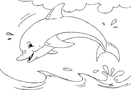 Dolphin coloring pages are great outline images with one of the most playful and clever animals on our planet. Coloring Page Dolphin Free Printable Coloring Pages Img 27233