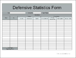 Here Is Preview Of Another Sample Football Score Sheet Template In