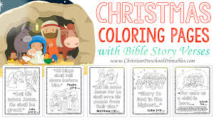 Christmas Bible Coloring Pages The Crafty Classroom