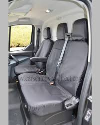 ford transit lwb tipper extra heavy duty waterproof black seat covers