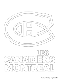 Small Picture Print montreal canadiens habs logo nhl hockey sport1 coloring