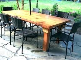 full size of diy plans for giant outdoor dining table furniture free build patio round wooden