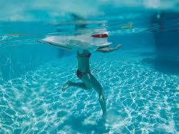 pool water. PHOTO: A Swimmer In The Water At A Pool. Pool