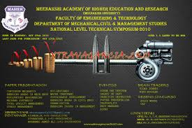 extravagancia k symposium oct meenakshi academy of meenakshi academy of higher education research maher faculty of engineering technology chennai for the benefit of students is organizing an one