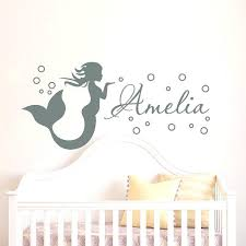 wall decorations for baby rooms name wall decals for nursery mermaid wall decal girl name decals vinyl stickers girl nursery wall wall decorations baby girl