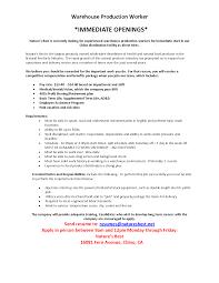 Resume Skills Warehouse Position Sidemcicek Com