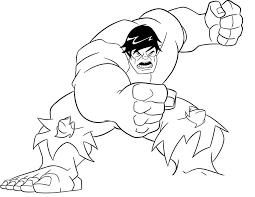 Printable Hulk Coloring Pages Kids Colorinenet 11211