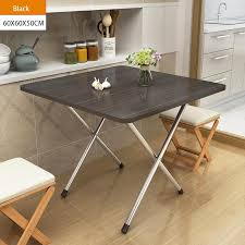 60x60x50cm l w h folding square tbale wood panel steel frame snack table