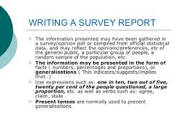 writing a survey report  6 writing a survey report