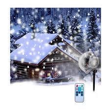 Snowfall Blizzard Led String Light Amazon Com Jieson Christmas Projector Snowflake