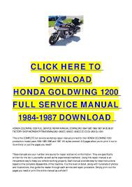 wiring diagram for 1987 honda goldwing 1984 Goldwing Wiring Diagram Honda Goldwing 1800 Wiring-Diagram