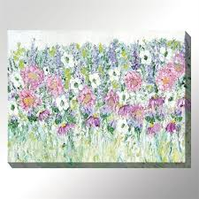 jubilant wildflowers canvas wall art multi warm