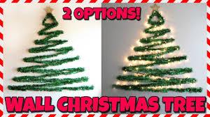 Christmas Tree Design On Wall With Lights Diy Wall Christmas Tree
