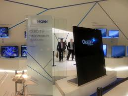 haier curved tv. chinese electronics maker haier unveils new 4k and curved oled tvs at ifa 2014 tv