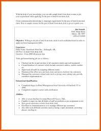 Front Desk Resume Moa Format