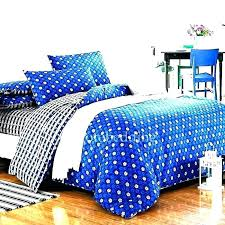 royal blue bed set sheets duvet cover bedspread and white quilting fabric bedding bright