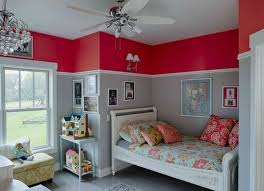 bedroom painting designs: paint color ideas for a kids bedroom the two tone red and gray color