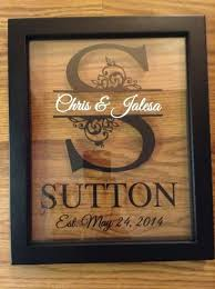 custom monogram split letter floating frame personalized 8x10 makes a great anniversary and wedding gift