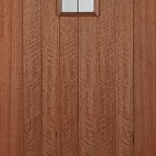 Hillingdon Lead Light External Hardwood Door with Bevel Tri Glazing