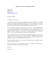 Brilliant Ideas Of Cover Letter For Internship In Business On
