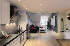 Small 1 Bedroom Apartment Design Elegant Small One Bedroom Modern Attic  Apartment With Exposed Wood Super