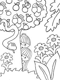 Adam Eve Coloring Page Bible Crafts Pinterest Sunday School Coloring