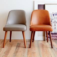 leather restaurant chairs. Mid Century Leather Dining Chair West Elm With Regard To Modern Household Tan Chairs Remodel Restaurant