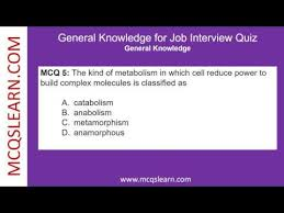 General Knowledge For Job Interview Quiz Mcqslearn Free