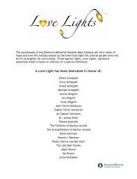 A Love Light has been dedicated in Honor of: - Elmhurst Memorial ...