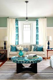 Brown And Turquoise Living Room Extraordinary Turquoise Curtains Living Room Lovely Turquoise Curtains For Living
