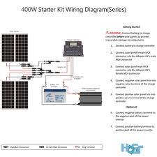 solar panels wiring diagram installation facbooik com Rv Solar Panel Installation Wiring Diagram 400 watt off grid monocrystalline solar starter kit hqst solar rv solar panel wiring diagram