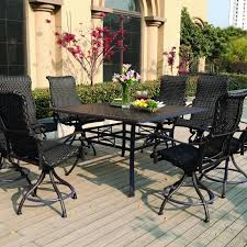 7 piece bar height patio set page 1