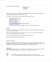 Computer Science Resume Template New Computer Science Resume Example 44 Free Word PDF Documents