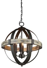 artcraft lighting ac10015 castello 4 light wood mini chandelier