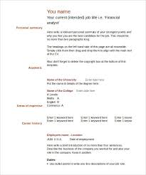 Blank Cv Templates Free Download Word Templates Resume Examples