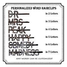 Custom <b>Word Hair clip</b>/Personalized Letters <b>Hair Pin</b>/ Customized ...