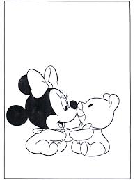 Minnie Als Baby Kleurplaat Mickey Mouse