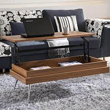 Koryo Walnut Lift Top Rectangular Coffee Table