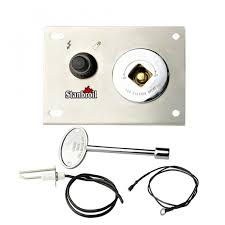 stanbroil fire pit gas burner spark ignition kit including push on igniter gas shut off valve with key
