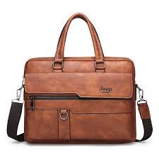 Online Shop <b>JEEP BULUO Brand</b> Man Business Briefcase Bag Split ...