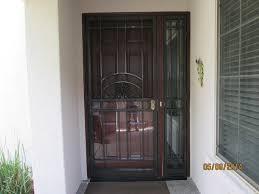 black metal screen doors. Door : Red Front With Black Storm Also Using Clear Glasses . Metal Screen Doors U