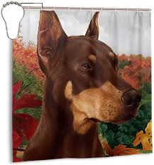 YETTA YANG Doberman Pinscher Dog Red ...