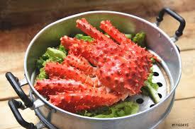 Alaskan King Crab Cooked Steamer Food ...