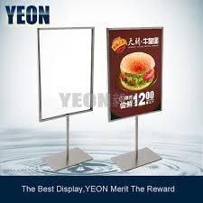 Poster Board Display Stands Unique YEON Supply Table Poster Board Display Stand Stainless Steel Sign