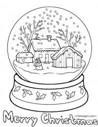 Small Picture Printable christmas snow globe coloring pages for kids Printable