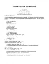 Journalism Resume Examples Examples Of Resumes Radio Broadcasting